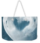 Navy Blue And White Love Weekender Tote Bag