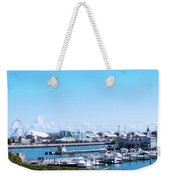 Navy Pier Chicago Il Looking Northeast Weekender Tote Bag