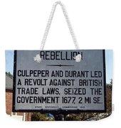 Nc-a21 Culpepers Rebellion Weekender Tote Bag