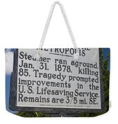 Nc-a33 Wreck Of The Metropolis Weekender Tote Bag
