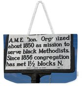 Nc-a43 Mount Lebanon Church Weekender Tote Bag