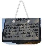 Nc-a61 Joseph C. Price 1854-1893 Weekender Tote Bag