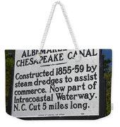 Nc-a76 Albemarle And Chesapeake Canal Weekender Tote Bag