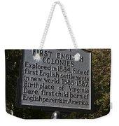 Nc-b1 First English Colonies Weekender Tote Bag