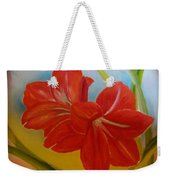 Red Lily Weekender Tote Bag