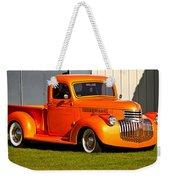 Neat Vintage Chevrolet Truck In Bright Orange Weekender Tote Bag
