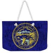 Nebraska Flag Weekender Tote Bag by World Art Prints And Designs