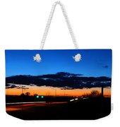 Nebraska Highway Sunset Weekender Tote Bag