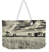 Nebraska Prairie One In Black And White Weekender Tote Bag