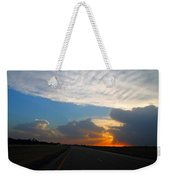 Nebraska Sunset Weekender Tote Bag