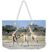 Necking Giraffes Botswana Weekender Tote Bag