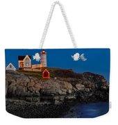 Neddick Lighthouse Weekender Tote Bag by Susan Candelario