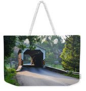 Neff's Mill Covered Bridge Lancaster County Weekender Tote Bag