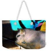 Negative Cat Weekender Tote Bag