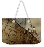 Neglected Whaling Boat Weekender Tote Bag by Amanda Stadther
