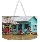 Neighbors On The River Weekender Tote Bag