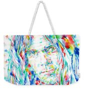 Neil Young - Watercolor Portrait Weekender Tote Bag