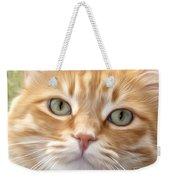 Yellow Cat Digital Art Weekender Tote Bag