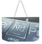 Neodymium Chemical Element Weekender Tote Bag