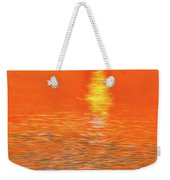 Neon Beach Sunset Weekender Tote Bag