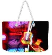 Neon Burst In Downtown Nashville Weekender Tote Bag by Dan Sproul