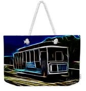 Neon Cable Car Weekender Tote Bag