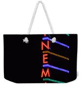 Neon Cinema Weekender Tote Bag