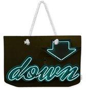Neon Down Weekender Tote Bag