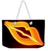 Neon Lips Weekender Tote Bag