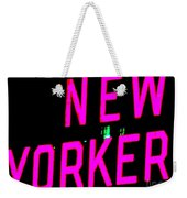 Neon New Yorker Weekender Tote Bag