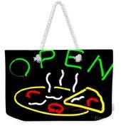 Neon Pizza Weekender Tote Bag