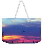 Neon Sunset Weekender Tote Bag