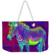 Neon Zebra Weekender Tote Bag