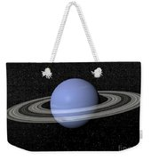 Neptune And Its Rings Against A Starry Weekender Tote Bag by Elena Duvernay