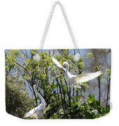 Nesting Great Egrets Weekender Tote Bag