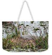 Nesting Sandhill Crane Weekender Tote Bag