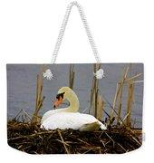 Nesting Swan Weekender Tote Bag