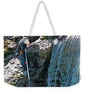 Net Fishing In Bulkley River In Moricetown-british Columbia-canada Weekender Tote Bag