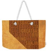 Nevada Word Art State Map On Canvas Weekender Tote Bag