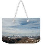 Never Summer Mountains From Rock Cut In Moraine Park Rocky Mountain National Park Weekender Tote Bag