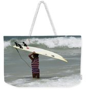Never Too Little Never Too Big To Surf Weekender Tote Bag