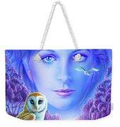 New Age Owl Girl Weekender Tote Bag