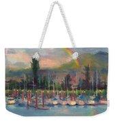 New Covenant - Rainbow Over Marina Weekender Tote Bag