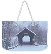 New England Covered Bridge In Winter Weekender Tote Bag