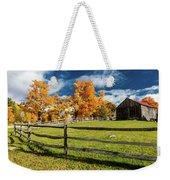 New England Farm With Autumn Sugar Weekender Tote Bag