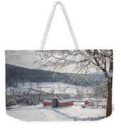 New England Winter Farms Morning Square Weekender Tote Bag