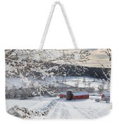 New England Winter Farms Square Weekender Tote Bag