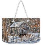 New England Winter Woods Weekender Tote Bag