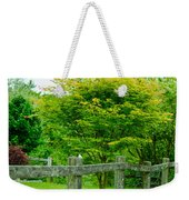 New England Wooden Fence Weekender Tote Bag