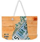 New Hampshire License Plate Map Live Free Or Die Old Man Of The Mountain Weekender Tote Bag by Design Turnpike